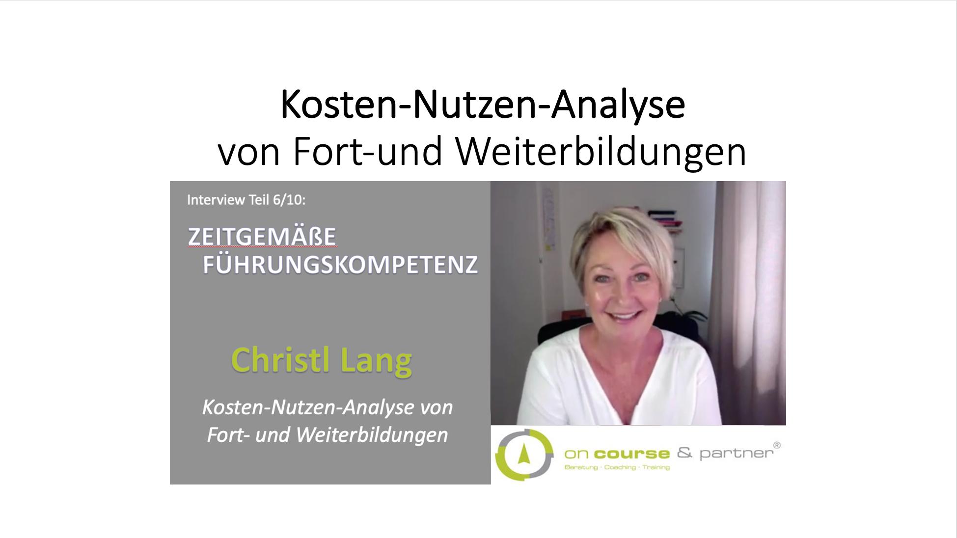 6_10_Kosten-Nutzen-Analyse von Fort-und Weiterbildungen